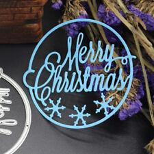 Merry Christmas Cutting Dies DIY Scrapbooking Album Embossing Card Paper Craft