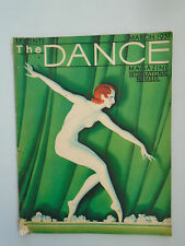 The DANCE MAGAZINE MARCH 1931 FRANZE FELIX COVER DESIGN ART DECO ANNA PAVLOVA