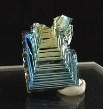 Rainbow Bismuth Crystal Gem Mineral Iridescent Geometry Cluster Lab Created A04