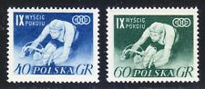 Poland 1956 MNH Mi 964-965 Sc 727-728 9th Warsaw-Berlin-Prague Bicycle Race **