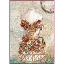 Stamperia Maniquí De Papel De Arroz A4-las agujas del reloj (dfsa 4286) NUEVO