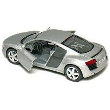 "New Kinsmart 5"" Audi R8 Diecast Model Toy Car 1:36 - Silver"