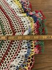 Vintage+Hand+Crocheted+Doily+Colorful+Round+Cotton+24%22