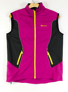 SUGOI Versa CYCLING JACKET JERSEY Sleeveless Full Zip Pink / Black WOMEN'S SMALL