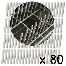 Universal Dishwasher Basket Cage Rack Drawer Prong Cover Protector Caps - 80 Pk