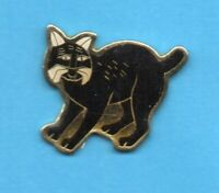 Pin's lapel pin pins FELIN KATZE CAT GATO GATTO KAT KOTA CHAT NOIR