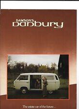 VW VOLKSWAGEN Dawsons Danbury CAMPER SALES BROCHURE 1982 1983
