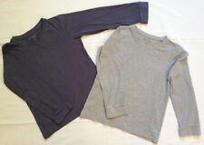 2 x LA-Shirt langarm Longsleeve Shirt TCM 140 134 blau grau 128