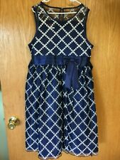 Love by Special Ocassions Dress Girl's Size 14 Navy, Party, CHRISTMAS!! EUC!!!