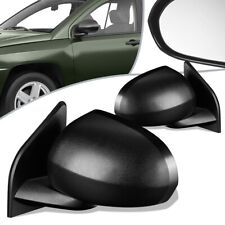Fit 07-17 Jeep Compass Pair Manual Side View Door Mirror Set CH1320266 CH1321266
