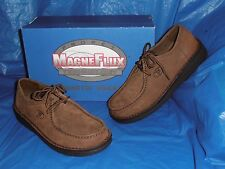 Propet Mens, Magnetic Wallabee  Style, Brown NuBuck Leather, Size 12 M ( D )