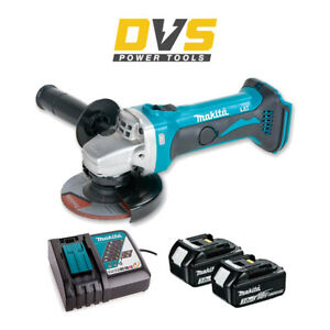 MAKITA DGA452Z 18V CORDLESS ANGLE GRINDER LXT 115MM 3AH BATTERIES CHARGER DC18RC
