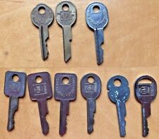 9 vintage Curtis keys for GM cars with B numbers 11,44,45,46,46,49,51