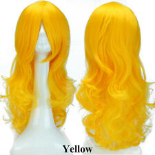 Ombre Pastel Hair Wig Long Curly Wavy Straight Cosplay Fancy Costume Full Wig gg