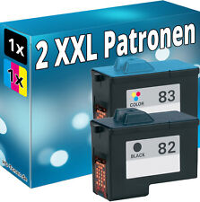 2x TINTE PATRONEN für LEXMARK 82+83 X5100 X5130 X5150 X6100 X6150 X6170 Z55 Z65