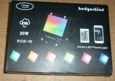Hedynshine 20W Led Rgb+W Smart Flood Light Ip66 w/ Remote & App Control uns nib