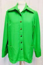 Vintage 1970's Lime Green Shirt Jacket Womens Medium Vintage Sears