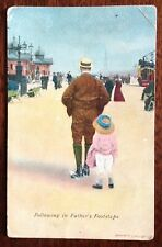 """Vintage Comic Postcard - """"following in Fathers Footsteps"""" - c1910"""
