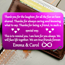 Women Xmas Gifts for Her Sister Best Friends Forever Girls Metal Wallet Card W37