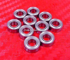 "[QTY 10] SR156ZZ (3/16"" x 5/16"" x 1/8"") 440c Stainless Steel Ball Bearing R156ZZ"