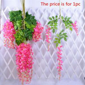 110cm Silk Wisteria Artificial Flowers Vine Garland Hanging Flower Wedding Party