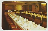 Unused Postcard Walps Motel and Restaurant Allentown Pennsylvania Banquet Room