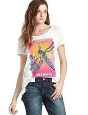 Lucky Brand - Womens S - NWT - Golden Bird Floral Stamp Print T-Shirt - Tee