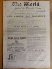 1876 The World - A Journal for Men & Women Newspaper Sept 27th Social Political