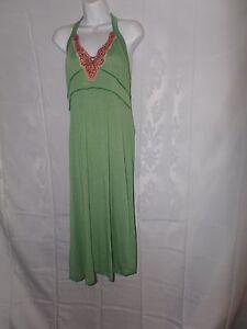 Ladies Size L Hazel Hazel Hazel Green Halter Sequined Decal Dress