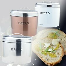 Stainless Steel Bread Bin Various Colours Elliptical Bread Storage Fresh 3 Col