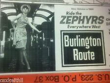 BURLINGTON ROUTE RR - 1966 - 16 x 20 SYSTEM MAP - COMPLETE DETAILED