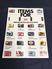 JDM Cycle World '86 Motorcycle Life Style Book All Bikes, Parts, & Gear Catalog