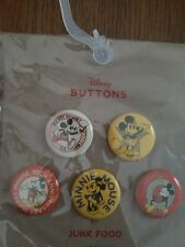 Junk Food Mickey Mouse Pin Back 5 Button Set 2018 Disney 90th Anniversary target
