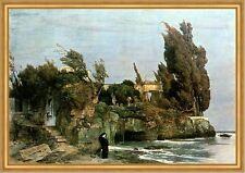 Villa am Meer Arnold Böcklin Melancholie Landschaft Wind Einsamkeit  H A2 0085