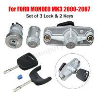 Door Lock Ignition Barrel Petrol Cap & Boot Lock Set For Ford Mondeo MK3 2000-07