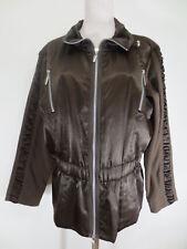 Top polaire Womens Dress CONCEPT VESTE 44 marron satin Mélange des matériaux comme neuf u1