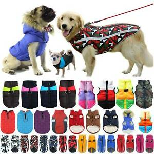 Warm Puppy Dog Pet Coats Clothes Vest Winter Jacket for Small Medium Large Dogs