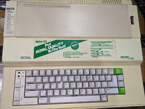 Royal Alpha 115 Typewriter West Germany Green Keys 1980's