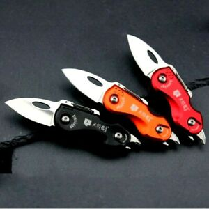 Mini Drop Point Folding Knife Pocket Hunting Survival Tactical Multifunctional S
