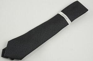 New Perry Ellis Portfolio Ruthven Micro Check Mens One Size Black White Neck Tie