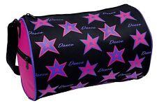 Danshuz Girls Star Dance Bag Roll Duffel Black, Pink, Purple