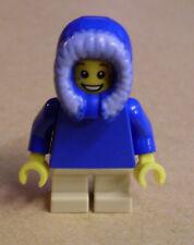 Lego Weihnachten - Junge in blauer Kapuze, kurze Beine (Holiday, Christmas) Neu