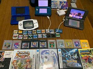 5 Nintendo Handhelds, 3DS/DS/40 Games NO RESERVE!!!