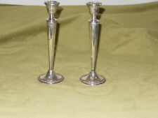 "VINTAGE PAIR CROWN STERLING SILVER WEIGHTED CANDLESTICKS/ 10"" tall"