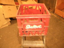 VINTAGE SEALTEST EXTRA THICK  MILK CRATE W/WHITE LETTERING  - MAKE OFFERS!!!!!