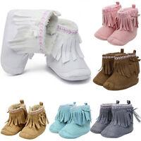 Newborn Baby Girl Shoes Booties Winter Warm Soft Sole Snow Boots Prewalker 0-18M