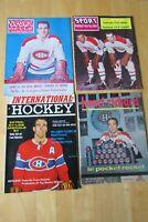 HENRI RICHARD  (4 DIFF) Vintage Magazines 1959/1970  MONTREAL CANADIENS 1966 CUP