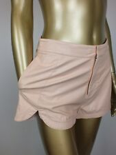 BLESSED ARE THE MEEK FAUX LEATHER SHORTS - SOFT PINK SHORTS  - SIZE 2 10 SMALL