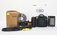 Nikon D80 10.2MP Digital with MB-D80 Grip - 27,007 Clicks!