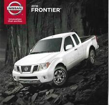 2018 18 Nissan Frontier original sales brochure